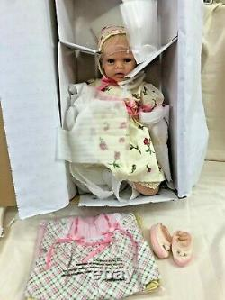 Ashton-Drake Galleries Lily Rose Silicone Baby Doll With 7pc Layette Set DAMAGED