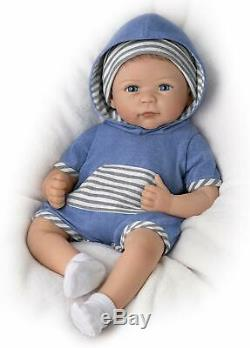 Ashton-Drake Galleries Linda Murray Lifelike Caleb Weighted Silicone Baby Doll