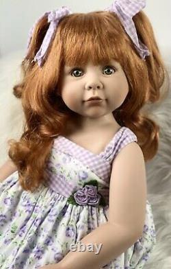 Ashton Drake Galleries, Linda Rick, Vinyl Girl Doll Sitting, 70cm, 28, Red Hair