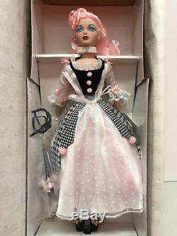 Ashton Drake Gene'Pierrette' pink hair blue eyes black white gown hat NRFB New