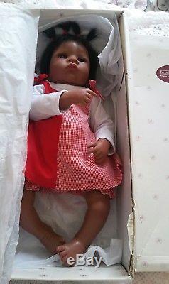 Ashton Drake Jasmine goes to grandmas so truly real black baby girl reborn doll