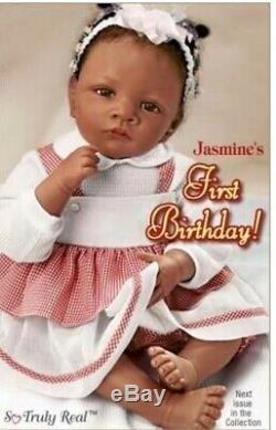 Ashton Drake Jasmines first birthday life like baby girl reborn doll by w. Hanl