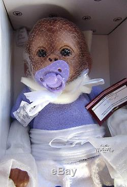 Ashton Drake Jo Jo Baby Monkey Doll Jojo With Dummy Pacifyer Poseable
