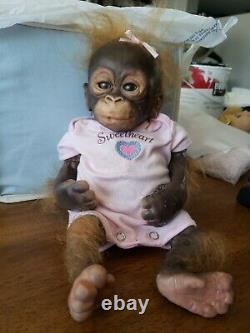 Ashton Drake LITTLE UMI Orangutan monkey 14 doll by Wendy Dickinson REPAIR need