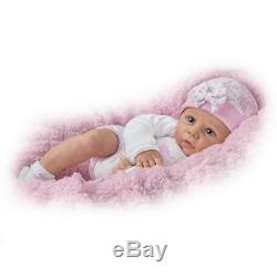Ashton-Drake Lifelike 16'' Vinyl Baby Girl Doll Worth The Wait Weighted New