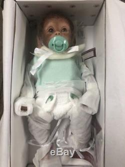 Ashton Drake Lifelike Baby Monkey Doll Lolo 16'' Fully Poseable NRFB