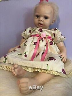 Ashton Drake Lily Rose Silicone Baby Girl Doll, original certificate, 20 in
