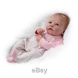 Ashton Drake Linda Murray Elizabeth Baby Poseable Baby Girl Doll NEW NIB