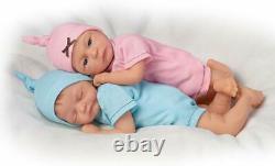 Ashton Drake Madison & Mason TwinsBunting So Truly Real Lifelike Dolls NEW Gift