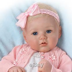 Ashton Drake Marissa May Perfect In Pink Annika Lifelike Baby Girl Doll NEW NIB