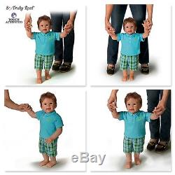 Ashton Drake Mason's First Steps Interactive Walking Baby Doll by Linda Murray