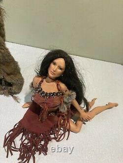 Ashton Drake Native American Female India Dolls Vintage Collectables Porcelain
