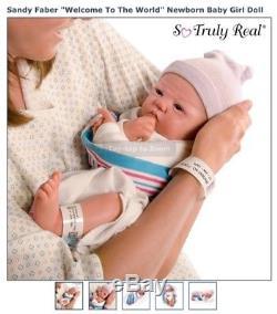 Ashton Drake Newborn Baby Doll 18 inch, vinyl lifelike skin, poseable, weighted
