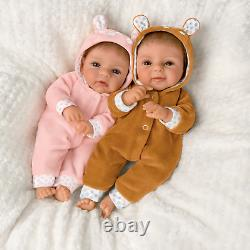 Ashton Drake Oh Deer! The Twins Are Here! Baby Doll Set by Sherry Rawn