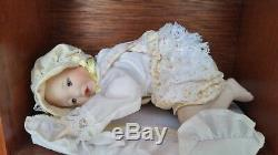 Ashton Drake Picture Perfect Babies Porcelain Mini-Dolls with display case