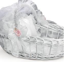 Ashton Drake Pretty As A Princess Lifelike Baby Doll By Elly Knoops with basket