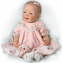 Ashton Drake Pretty In Pink Realistic Baby Doll 21'' New
