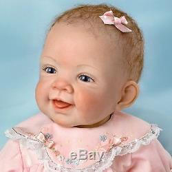 Ashton Drake Pretty In Pink Realistic Baby Doll Ashton Drake NEW Waltraud Hanl