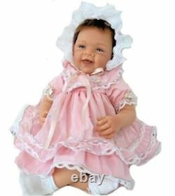 Ashton Drake Pretty In Pink Realistic Baby Girl Doll by Waltraud Hanl