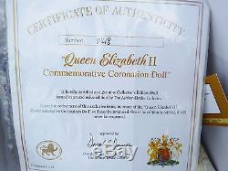 Ashton Drake Queen Elizabeth II Commemorative Coronation Portrait Doll NRFB