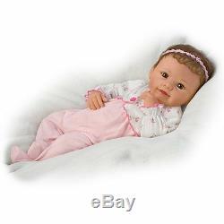 Ashton-Drake Sadie Interactive Baby Doll Breathes, Coos, Has A Heartbeat NEW