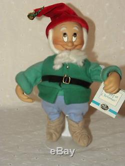 Ashton Drake Snow White & Seven Dwarfs Christmas Cottage & Dolls Complete Set