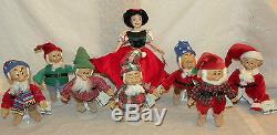 Ashton Drake Snow White & the Seven Dwarfs Christmas Dolls Age 14+ Girl