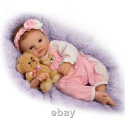 Ashton Drake So Real Unbearably Cute Vinyl Baby Doll Violet Parker