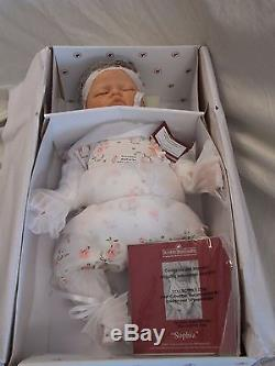 Ashton Drake Sophia Lifelike Baby Doll Real Touch Breathing Doll NRFB