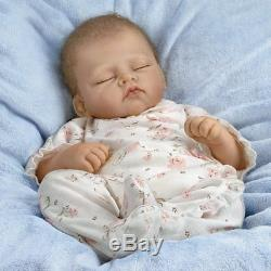 Ashton Drake Sophia, Lifelike, Breathes, Coos, Realistic Weighted 19'' Doll new