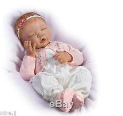 Ashton Drake Sweet Dreams Little Ava Newborn Baby doll hand-applied hair