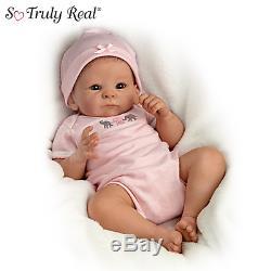 Ashton Drake Tasha Edenholm Little Peanut Lifelike Poseable Baby Doll NIB
