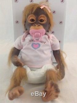 Ashton Drake Umi Orangutan With Clothes & Pacifier Lifelike Monkey Doll Child