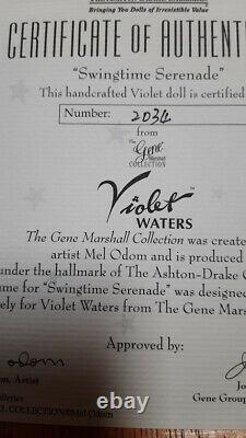 Ashton Drake VIOLET WATERS as SWINGTIME SERENADE -16 Gene doll NRFB