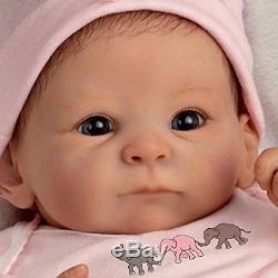 Ashton Drake Vinyl Reborn Baby Doll Full Handmade Newborn Lifelike Realistic 17
