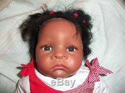 Ashton-Drake Waltraud Hanl Baby Jasmine Goes To Grandma Looks Real Baby Doll