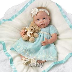 Ashton Drake YOU ARE SO BEAUTIFUL Baby Doll By Linda Murray with wicker basket