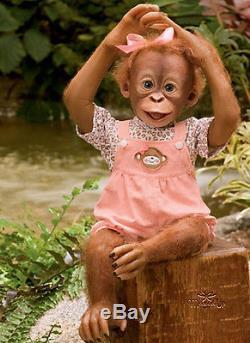 Ashton Drake baby Monkey MOMOKO Poseable Doll Free Next Day UK Delivery