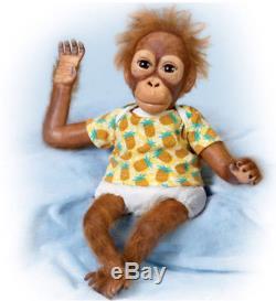 Ashton Drake baby Orangutan Monkey Doll Juma