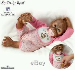 Ashton Drake baby Orangutan Monkey Doll Leila's Loving touch