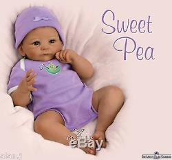 Ashton Drake baby doll Sweet Pea Weighted Poseable lifelike