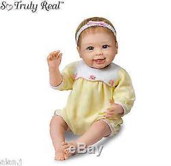 Ashton Drake lifelike Baby Doll Hailey waves bye bye baby Girl