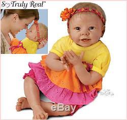 Ashton Drake lifelike baby Doll Eskimo Kisses Poseable and Giggles