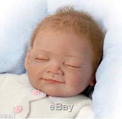 Ashton Drake lifelike baby Night Night Gracie Posable Doll Weighted