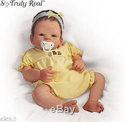 Ashton Drake newborn baby doll with Dummy Boo Bear Poseable Weighted