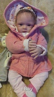 Ashton Drake soft touch life like baby girl reborn doll with clothes teddy