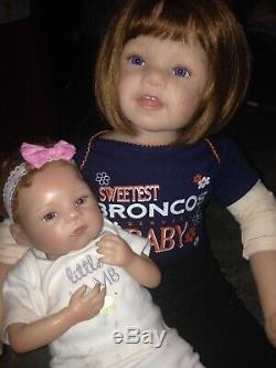 Ashton drake dolls big sister little sister doll set toddler and baby