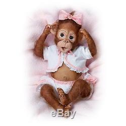 Baby Monkey Doll Cute As A Button So Truly Real Vinyl Monkey by Ashton Drake