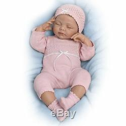 Beautiful Dreamer Breathes Heartbeat Hand-Rooted Hair Interactive weighted 19'