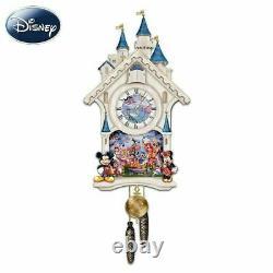 Bradford Exchange Disney Character Cuckoo Clock Happiest of Times New